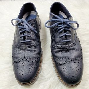 Cole Haan ZERØGRAND Wingtip Oxford in Navy Ink
